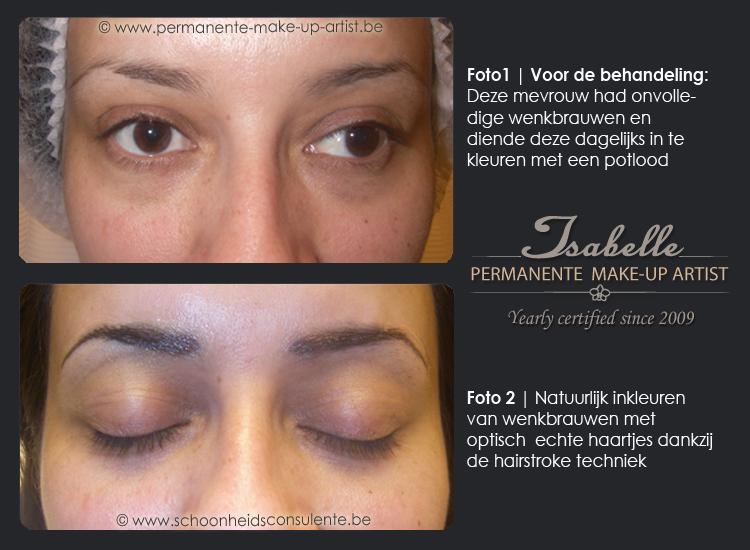 permanente make up wenkbrauwen hairstrokes