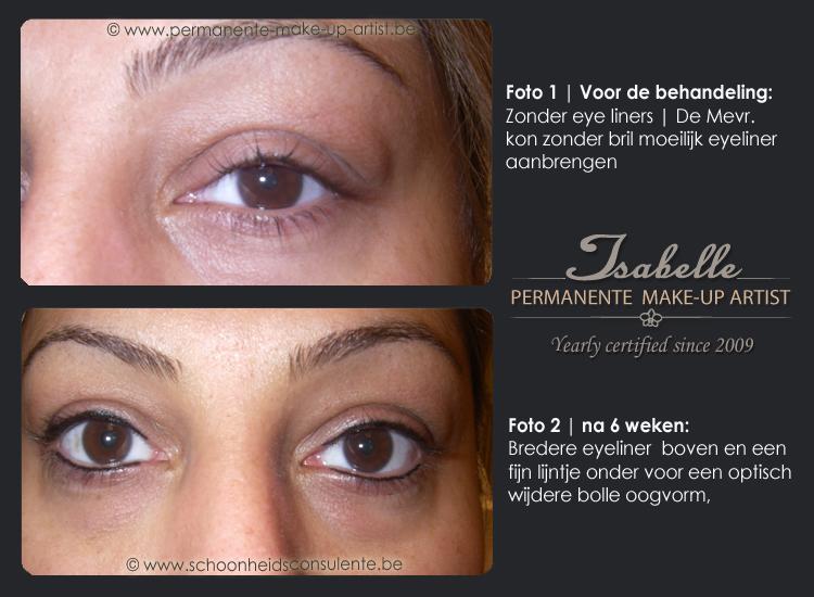 ooglijntje en eyliner