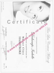 Opleiding Certificaat MASTERCLASS wenkbrauwen