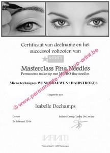 opleiding Certificaat MICRO techniques hairstroke wenkbrauwen